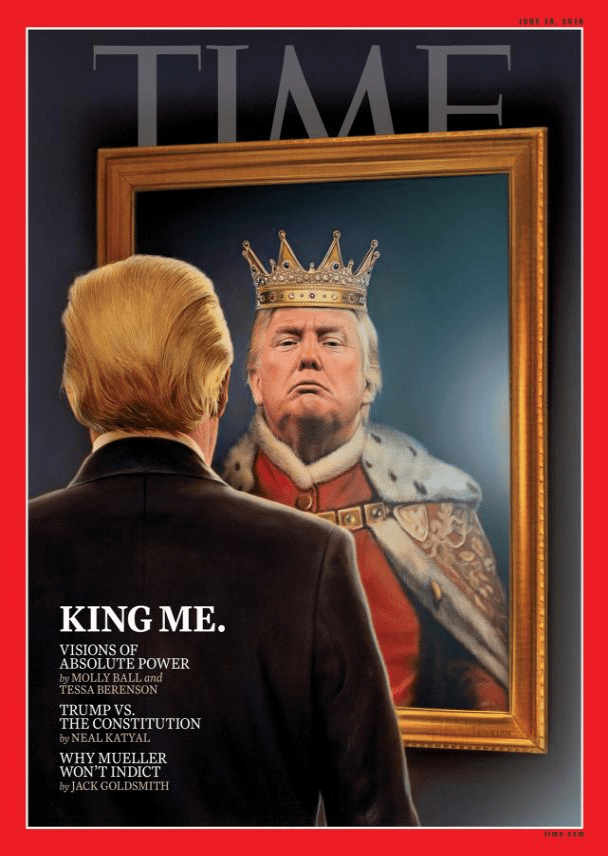 Time cover trump king