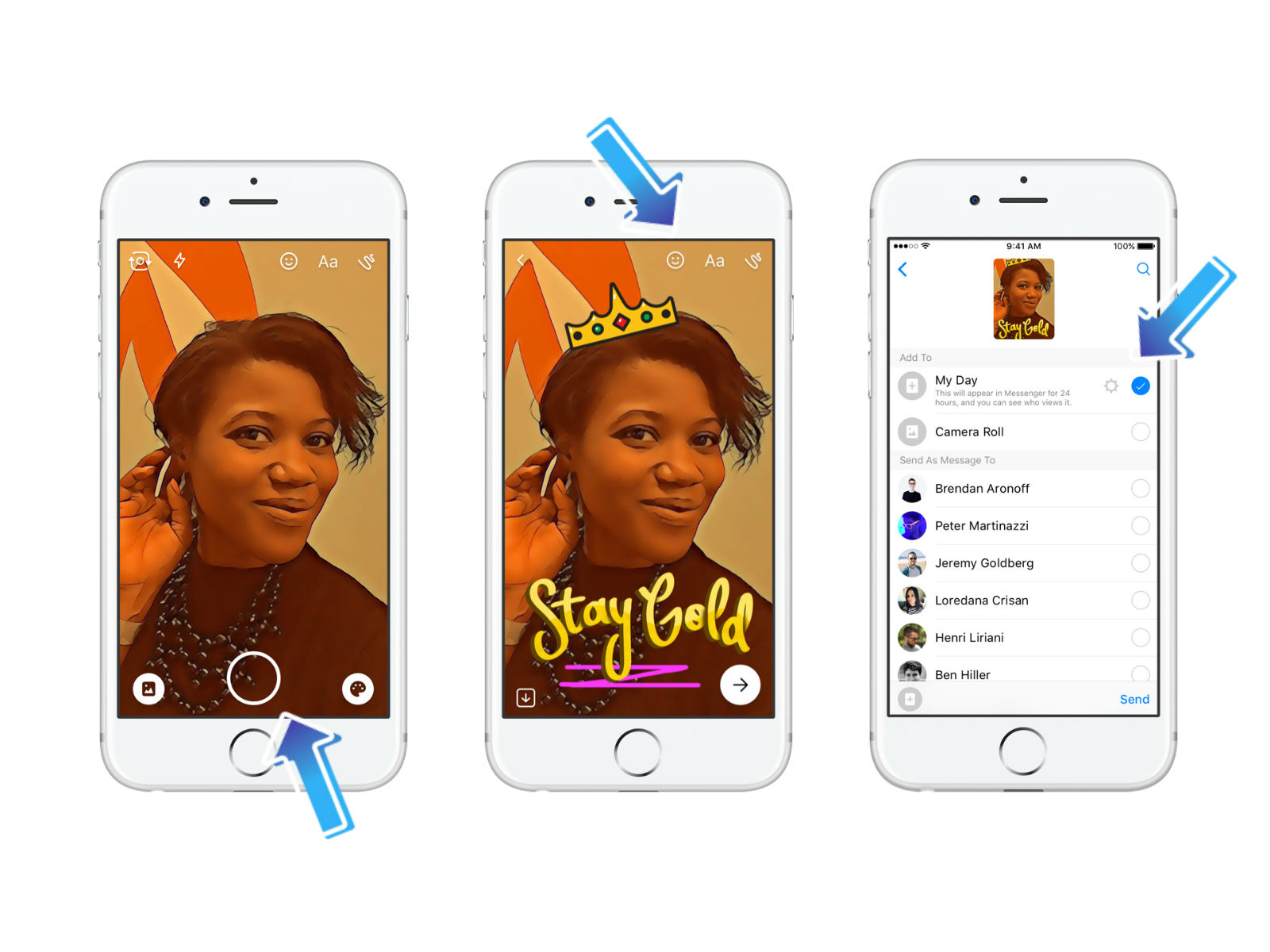 Facebook, Snapchat