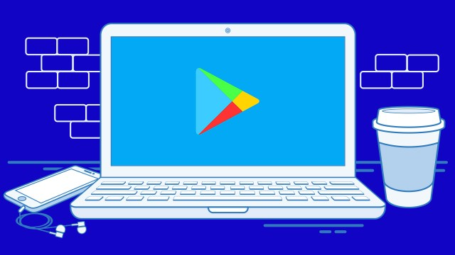 Google Play Store masaüstü tasarımı