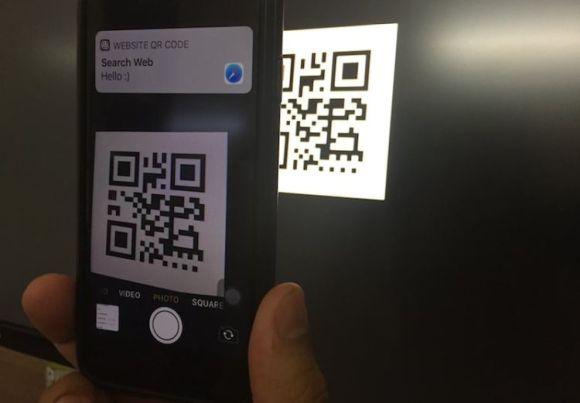 iOS kamera QR kod