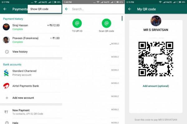 WhatsApp QR kod ödeme