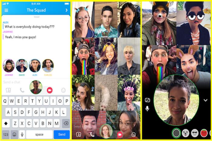 Snapchat video sohbet