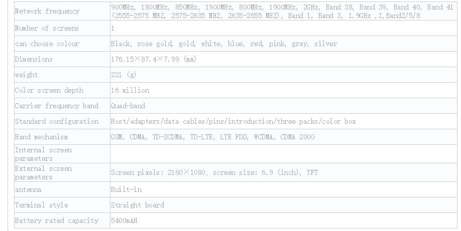 Xiaomi Mi Max 3 özellikleri