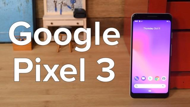 Google Pixel 3 ekran