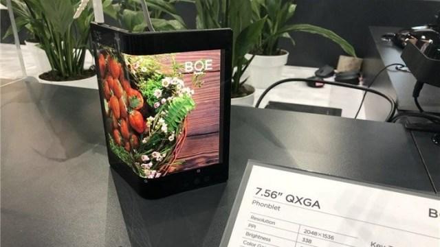BOE katlanabilir ekran teknolojisi