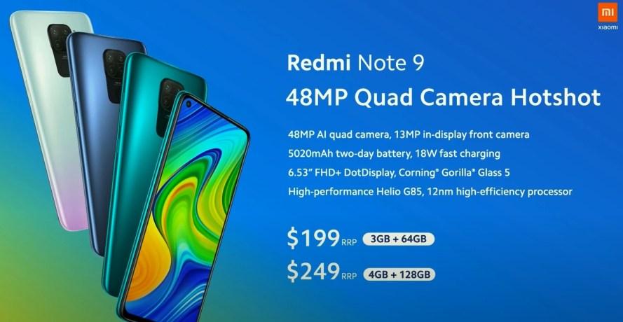 Redmi Note 9 fiyatı