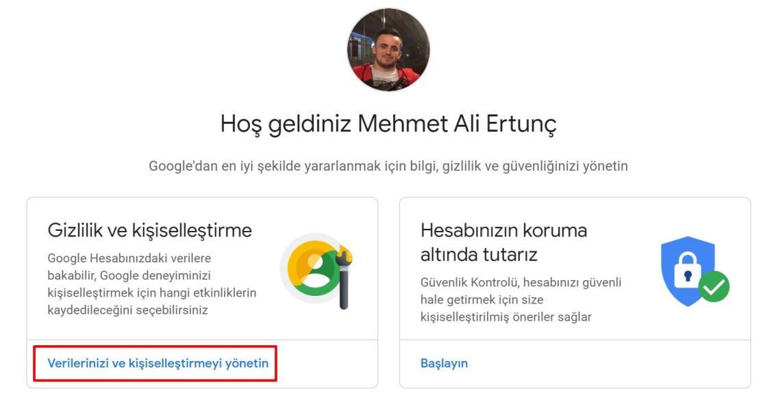 Gmail silme