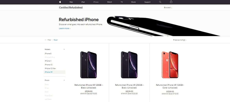 iPhone XR modelleri