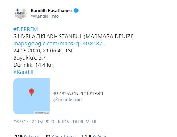 istanbul deprem, marmara deprem, deprem, silivri deprem, 3,7 deprem