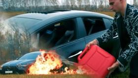 YouTuber yaklaşık 5 milyon liralık aracı yaktı!
