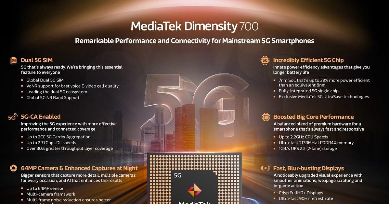 MediaTek Dimensity 700 yonga seti duyuruldu