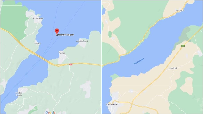 Google Haritalar Çanakkale Boğazı