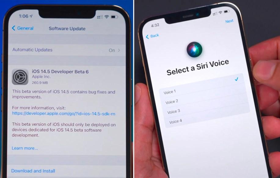iOS 14.5 Beta 6 ile Siri'ye yeni sesler eklendi
