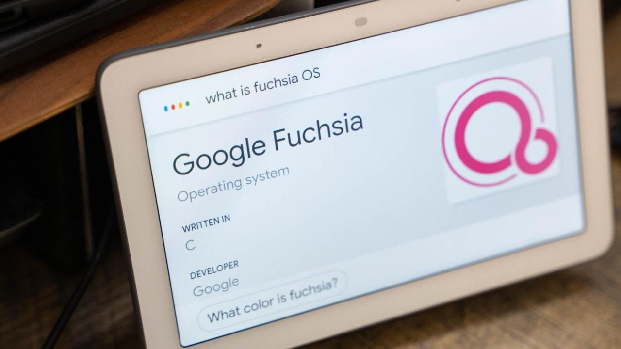 Google işletim sistemi Fuchsia OS