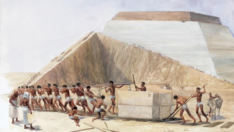 Piramitlerin inşası.