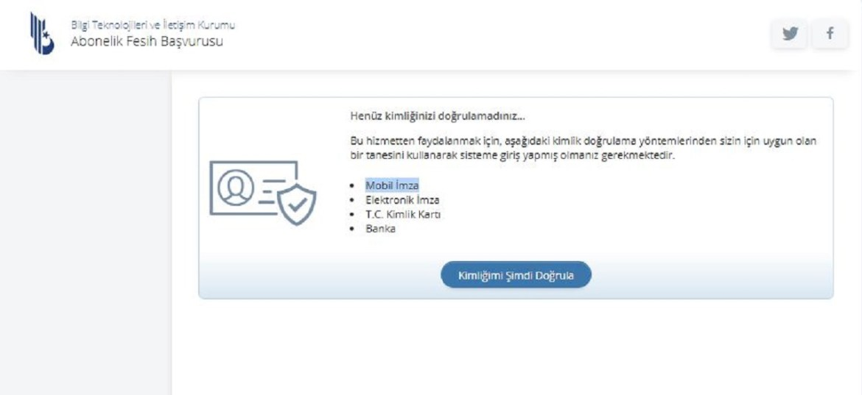 e-Devlet internet abonelik iptali