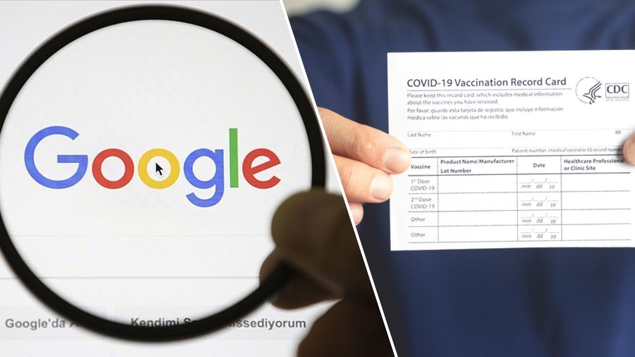 google covid aşı kartı