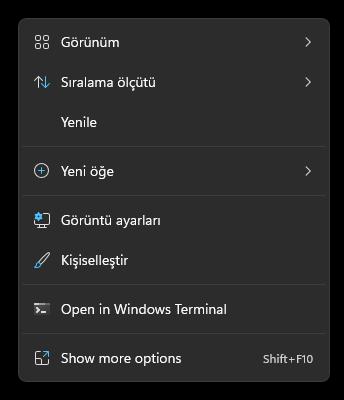 Windows 11'de karanlık mod