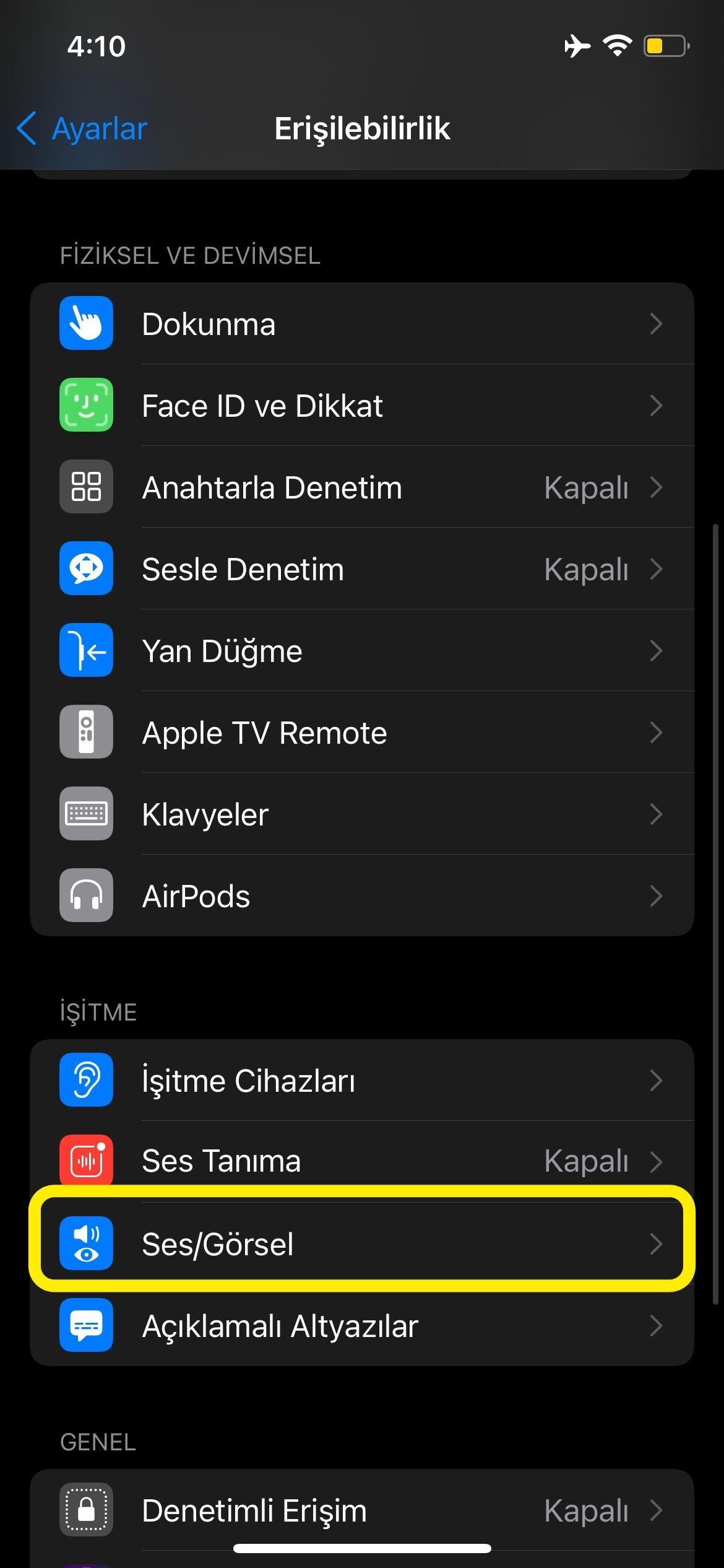 iOS 15 Arkplan sesleri