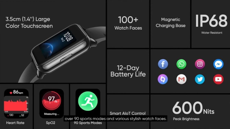 Realme watch 2 özellikleri