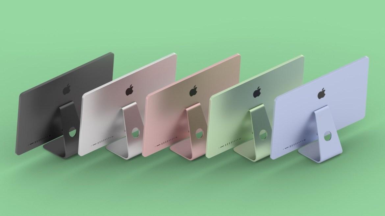 Renkli Apple bilgisayar