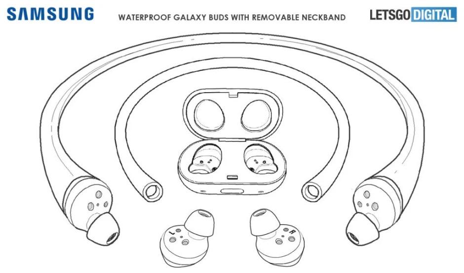 Su geçirmez Galaxy Buds patenti