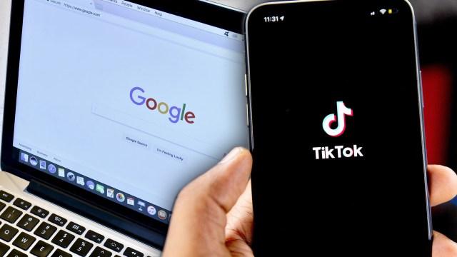 google arama sonuçları, google arama kısa videolar, google arama tiktok