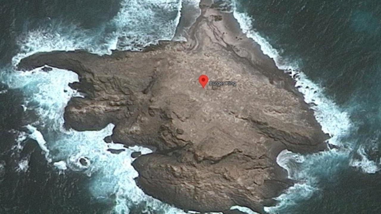 Issız bir adada Burger King restoranı