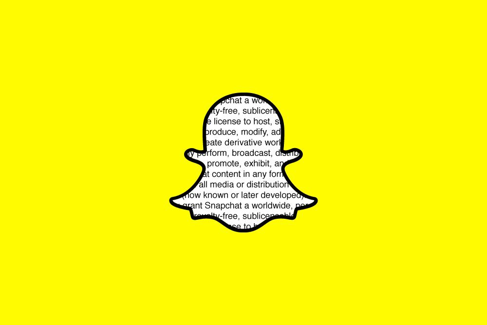 termos e condições do Snapchat