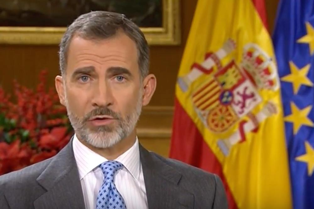Rei da Espanha pede fim do separatismo na Catalunha