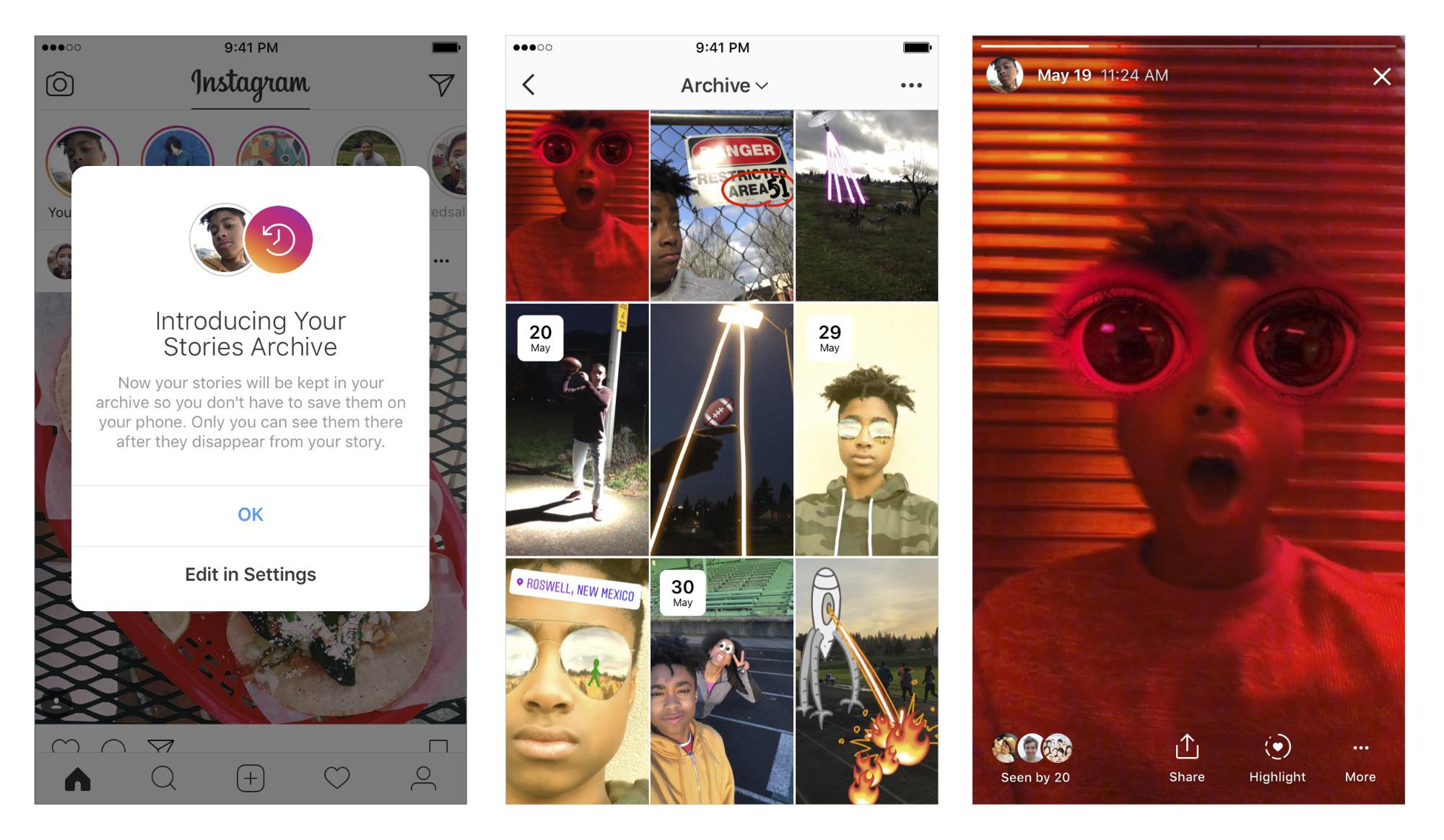 Agora é possivel arquivar seus Stories e Highlights — Instagram