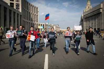Imagens da Manifestação contra o Bloqueio do Telegram / Fotografia de Vadim Preslitsky