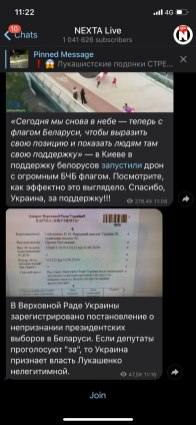 Nexta_Live via Telegram
