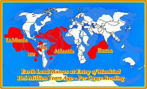 Earth 10.5 MYA , based on my interpretation of the the  Cayce Readings