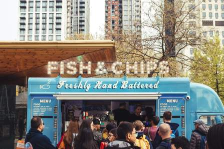 pop up style restaurant fish and chips theme truck