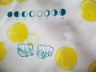 Hold Fast- Screen Printed Fabric