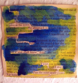 Small Basket of Nourishing Food- Altered book text