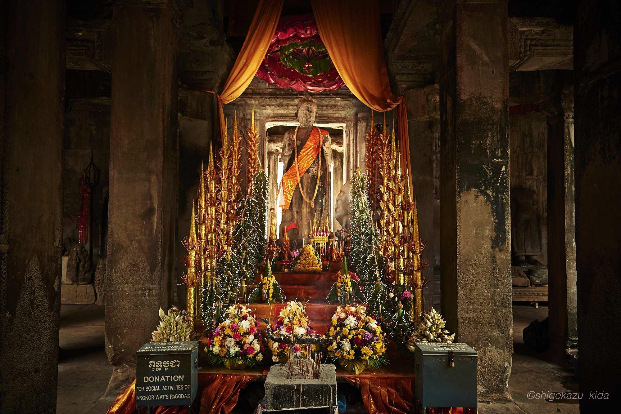 Angkor(アンコール)遺跡群にあるAngkorWat(アンコール・ワット)の仏像・石仏