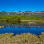 知床五湖と知床連山