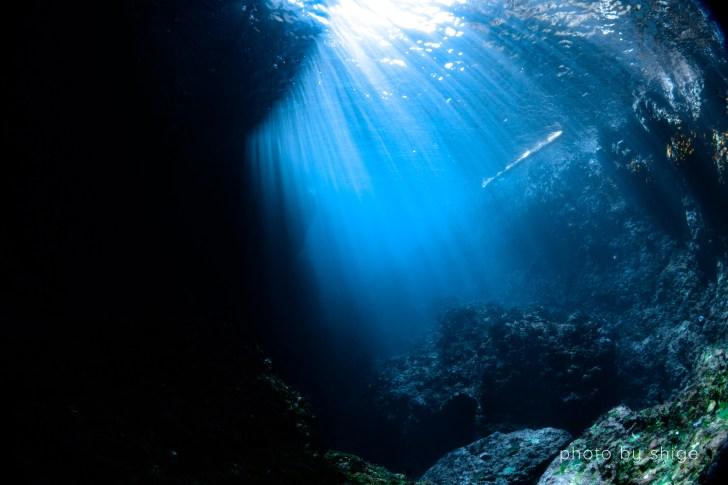 水中に差し込む光