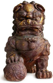 Ancient sculpture of an early Shih Tzu going back to the Ming Dynasty