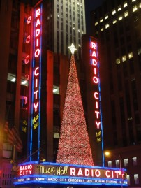 The tree changing colors at Radio City
