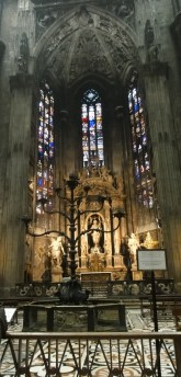 The beautiful stained glass windows of the Duomo