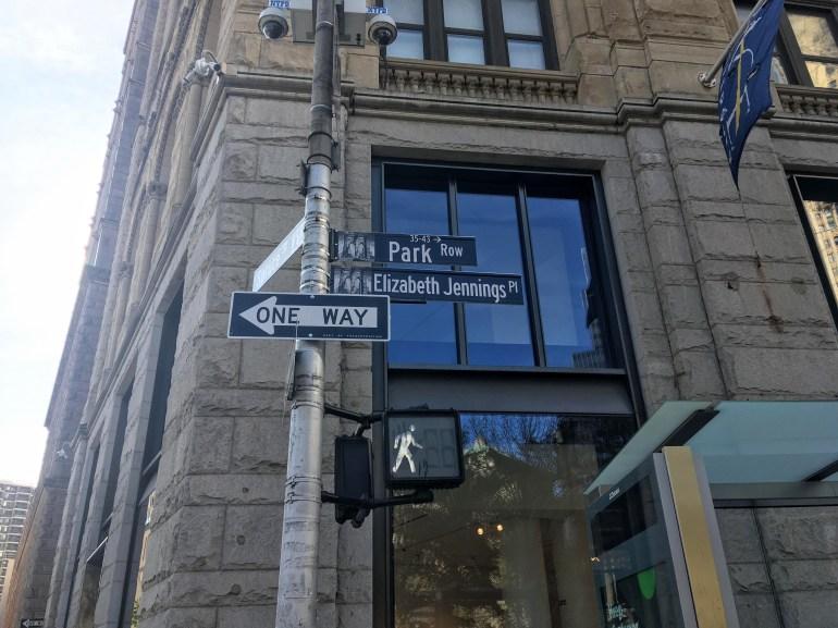Elizabeth Jennings Place NYC Women history