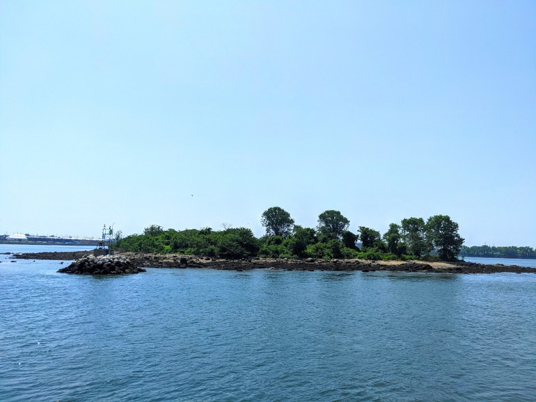 Soundview ferry ride North Brother Island
