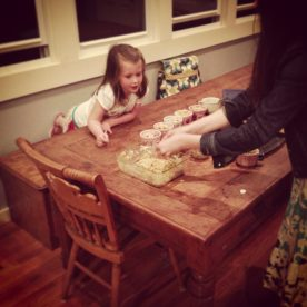 Micah Baking with Bekah!
