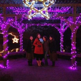 Touring our local Chrsitmas lights with Keilah and my lovely sisters!!!