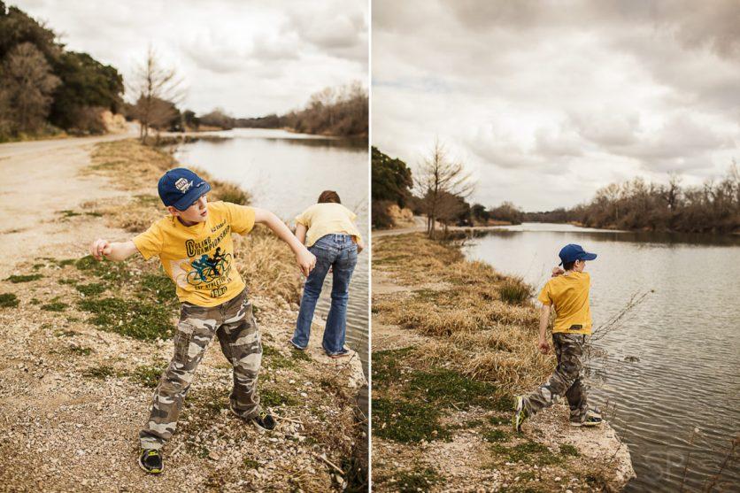 Nathanael rock skipping :)