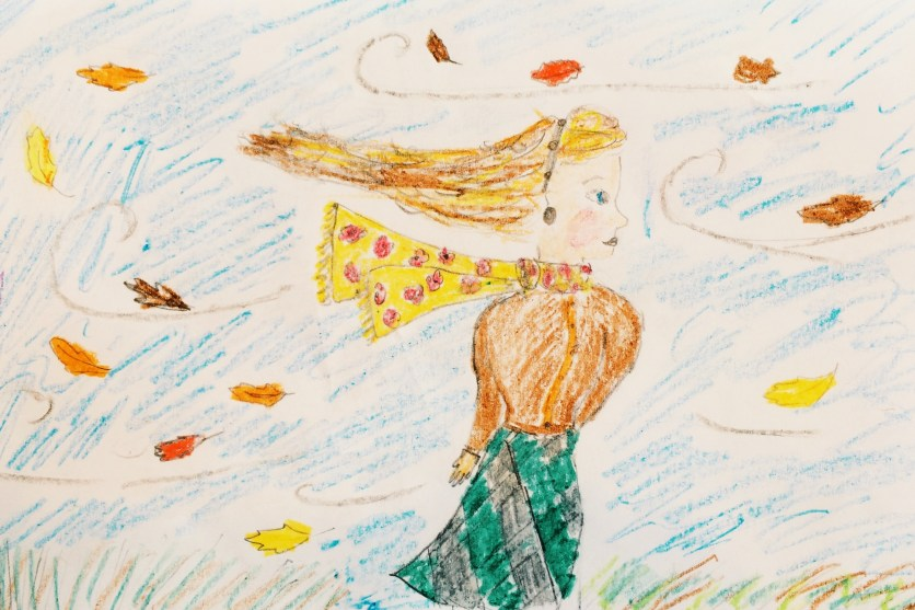 Seems I'm not the only one looking forward to fall! ;) Drawing by Ruth :)