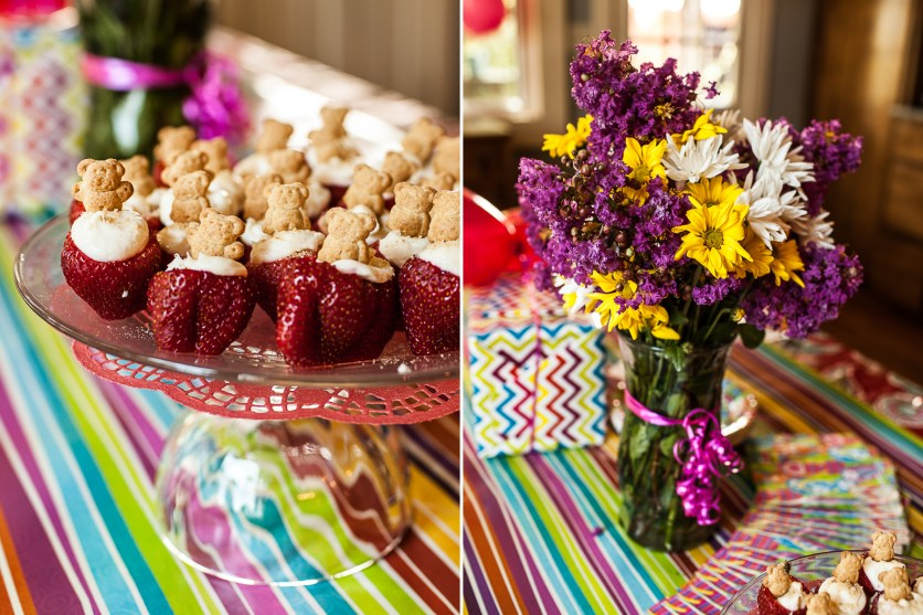 Fun snacks and beautiful flowers!!